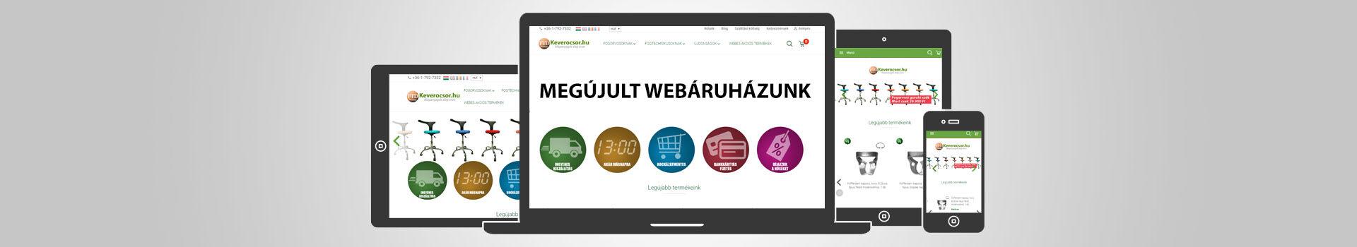 Megújult Webáruházunk