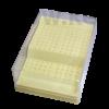 Fúrótartó 168 lyukkal, (144 db RA és 24 db FG), műanyag, nem autoklávozható, vaj színű