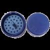 Endo-Steribox, műanyag, kerek kicsi, sötétkék, autoklávozható, 26 lyukkal gyökérkezelő tűknek vagy FG fúróknak, (4,9x5,5cm)