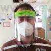 Fix gumis fejpántos arcvédőpajzs-szett, 1 keret - 1 előlap nem cserélhető