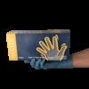 Hosszú szárú nitril púdermentes vizsgálókesztyű, 290 mm hosszú, kék, 100 db, - többféle választható méretben
