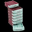 MediBox napi és heti gyógyszeradagoló doboz 1db - bordó