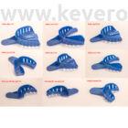 Lenyomatkanál, műanyag, kék, perforált, fogas, 1db - többféle választható méretben