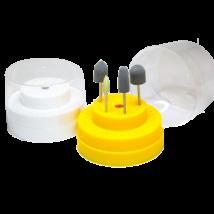 Fúrótartó, 60 lyukkal (10 FG+ 50 RA), műanyag, 121°C-ig autoklávozható, fehér