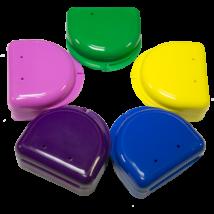 Műanyag dobozok, kerek, közepes, magas, nem átlátszó 10 db + 2 ajándék, - többféle választható színben