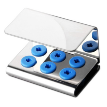 Ultrasonic Scaler Tip Holder, for 6 endings, with cover