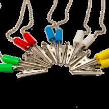 Fogászati előketartó csipesz, 1db, fém - többféle választható színben
