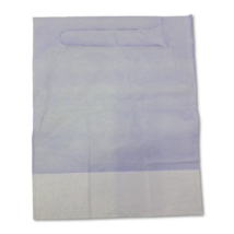 Dental Apron, with pocket, 125 pcs, shorter, pull-on, 3 layers, blue