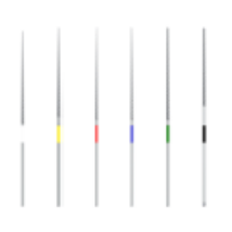 Endodonciai Nikkel-Titán tű depurátor fejbe, 15-40, 6db