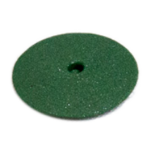 Rubber Polisher without mandrel, lens shaped, green, Mid-Coarse