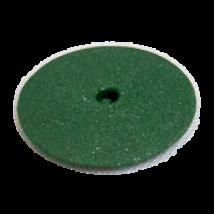 Gumi polírozó mandrel nélkül, lencse forma, zöld, közép-kemény, 10 db