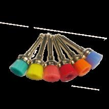 Polírkefék, 6 db különböző színben, RA, nejlon, kehely forma