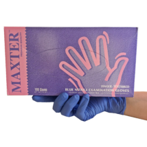 NITRIL Gloves for sensitive skin, latex and powder free,blue, 100pcs, in several sizes
