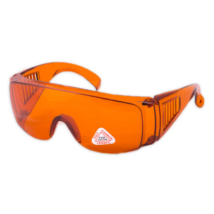 Medical Safety Glasses, orange, protecting against the light of LED Curing Light