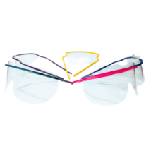 Medical Safety Glasses, disposable, in color yellow