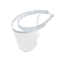 Set of Face Shield, white, 1 frame and 10 shields