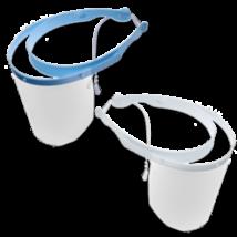 Arcvédőpajzs-szett, több színben - 1 keret és 10 előlap, kék