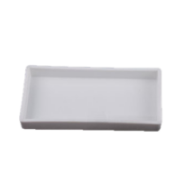 Dental Plastic Tray, not divided, autoclavable, white, 20x10x2,5 cm, 1 pc