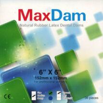 """Dental Dam, latex, MEDIUM, 36 pcs, green, 6""""x6""""=15,5 x 15,5 cm, MINT, low powdered"""