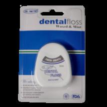 Dental Floss, waxed, methol, 50 meter