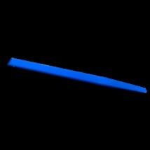 Spatula, cement keveréshez, vajszínű, műanyag, autoklávozható, rugalmas, 14,5 cm/3,8 mm vastag/1 cm széles