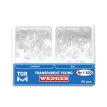 Transparent Wedges, thin and medium, 80 pcs