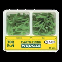 Plasticgreen Wedges set, green, 2 sizes, 80 pcs