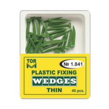 Plastic green Wedges, thin, 40 pcs