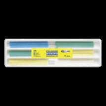 Polishing strips set, 3 types, 3x25 pcs