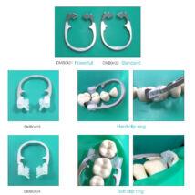 Szekcionált matricafeszítő gyűrű, fém, 1 db, 1 kiemelkedéssel, erősebb, ék alakú