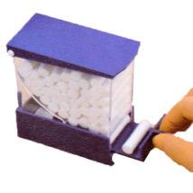 Cotton Rolls Dispenser, drawer type, blue