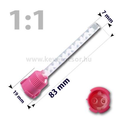 Keverőcsőrök, 50 db, pink, nem csúcsos, 1:1, 83 mm