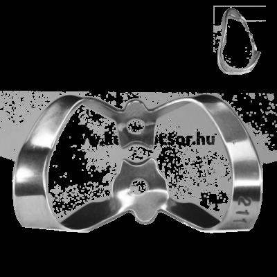 Kofferdam kapocs, Ivory, 1 db, szárnyas, 211-es tipus, felső és alsó front