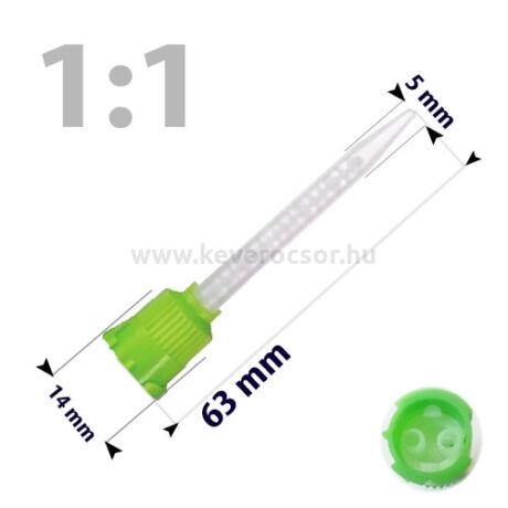 Keverőcsőrök, 50 db, zöld, 1:1, 63 mm
