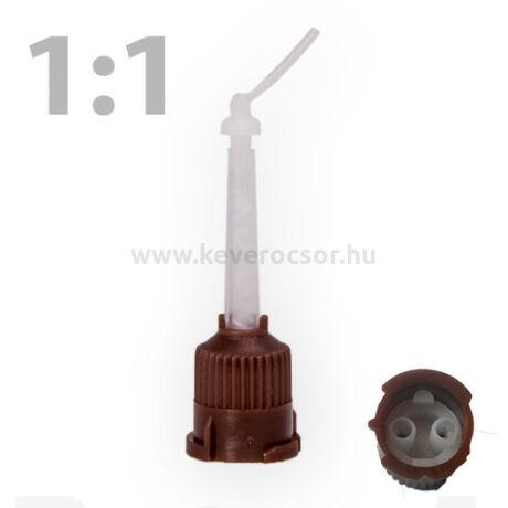 Keverőcsőr, barna, 1:1 + endo vég (50 +50 db)