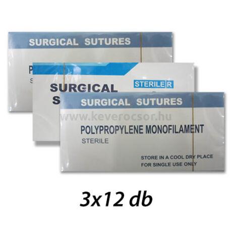 3 doboz steril atraumatikus tű fonállal, 7 választható tipusban - nem felszívódó