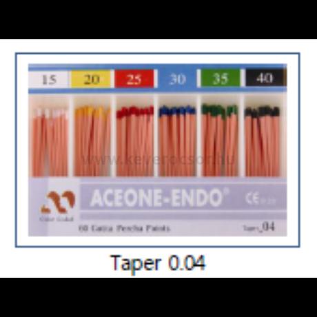 Guttapercha pointok (Taper 0.04), 60 db, színjelzett - több méretben