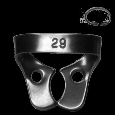 Kofferdam kapocs, Ivory, 1 db, 8.29-es tipus, alsó kisörlőkhöz