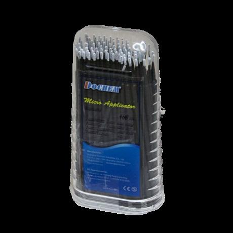 Applikátor dobozban, 10 cm hosszú, 100 db,  hosszú extra vékony (fekete színben)