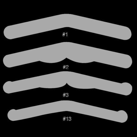 Matricaszalag, Tofflemire, 20 db, fém, 0,04 mm vastag - többféle típusban