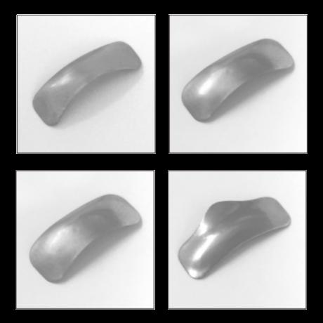 Szekcionált matrica, fém, 50 db/doboz, 0,038 mm vastag - többféle típusban