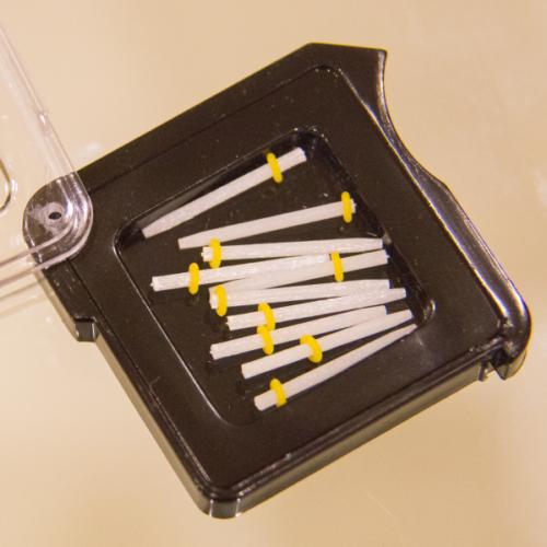 Üvegszálas csap, utántöltő, 1,4 mm-es méretben (sárga), 10 db, FITSPOST