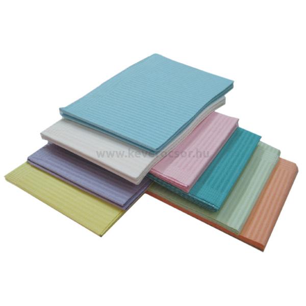 Fogászati Előke 3 rétegű, 500db, 33x45,5cm - többféle választható színben