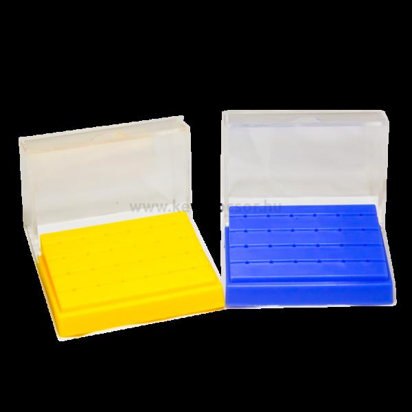 Fúrótartó 24 FG lyukkal, műanyag, 121°C-ig autoklávozható - többféle választható színben