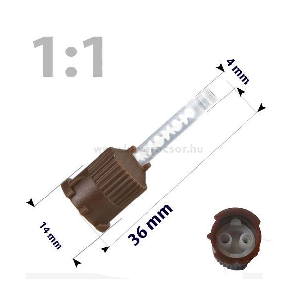 Keverőcsőrök, 50 db, barna, nem csúcsos végű, 1product, 36 mm