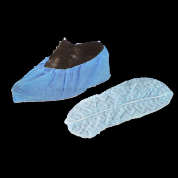 Cipővédő lábzsák, egyszer használatos, kék színű, 100db