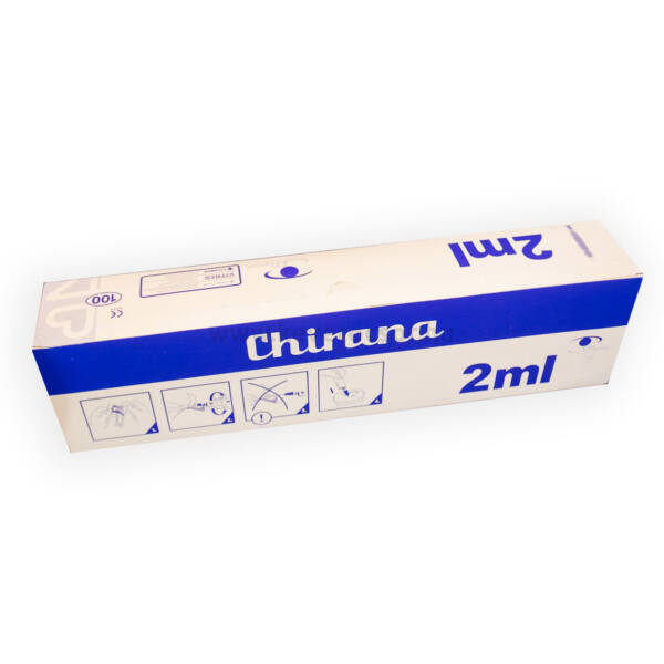 Fecskendő, luer, 2,5 ml, 2 részes, steril, 100db