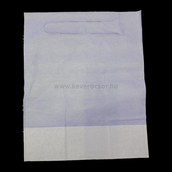 Előke, zsebes, belebújós, 125 db, rövidebb (37x49 cm), 3 rétegű, kék
