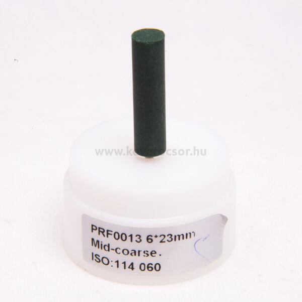 Gumi polírozó,zöld, 10 db hosszú henger (nudli), közép-kemény, 6x23mm, mandrel nélkül, ISO: 114 524, 20-30 000 rpm
