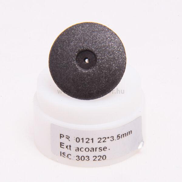 Gumi polírozó, fekete, 10 db lencse, extrakemény, 22x3,5mm, mandrel nélkül, ISO: 303 220, 20-30 000 rpm